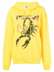 MSGM scorpion print hoodie - Yellow