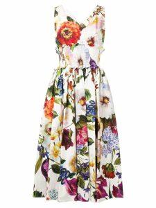 Dolce & Gabbana floral print midi dress - White