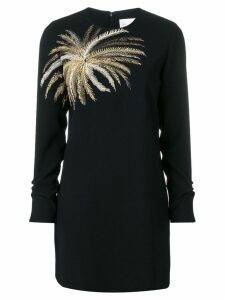 Victoria Victoria Beckham embroidered palm tree dress - Black