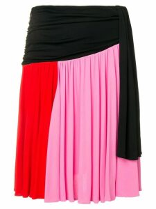 MSGM contrast panel skirt - Pink