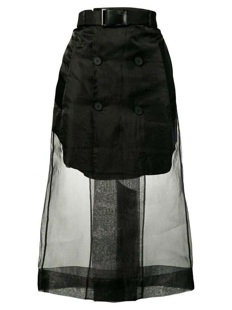 Maison Margiela mesh layered skirt - Black