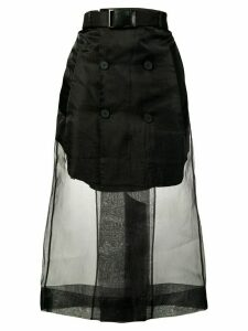 Maison Margiela mesh layered skirt - Black