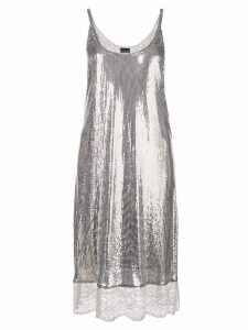 Paco Rabanne lace hem dress - Grey