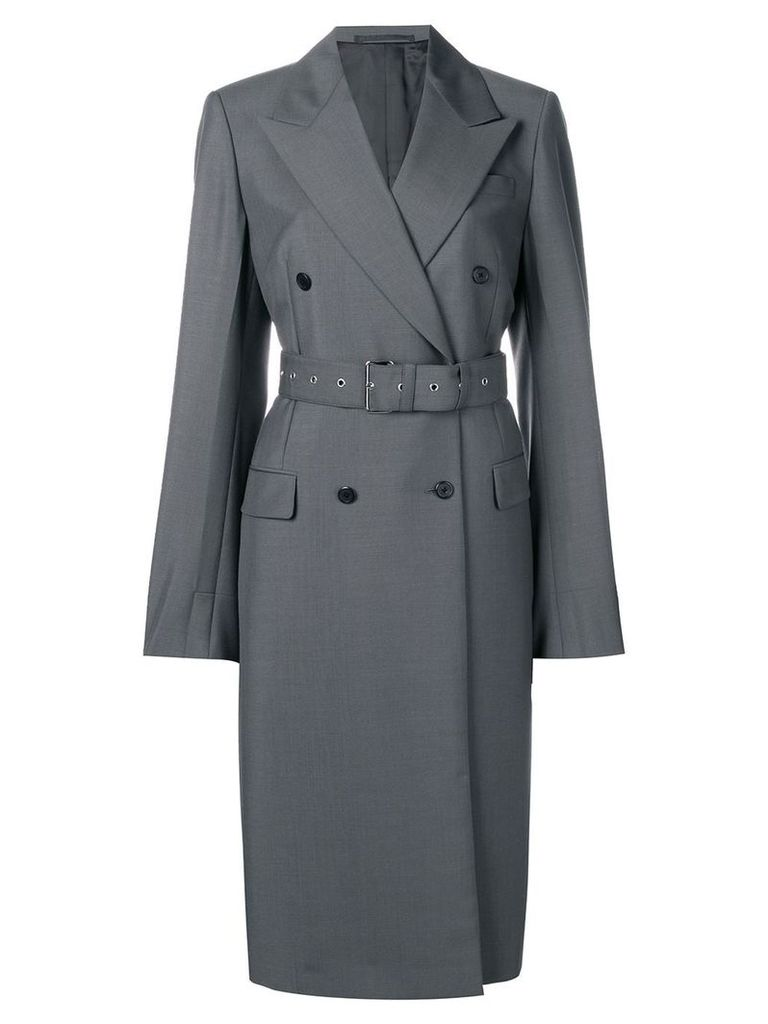 Prada double-breasted belted coat - Grey