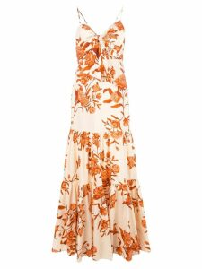 Johanna Ortiz bow detail floral dress - Neutrals