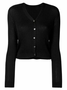 Sottomettimi ribbed knit cardigan - Black