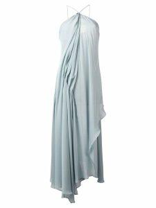 Jacquemus draped midi dress - Blue