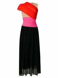 MSGM colour-blocked dress - Black