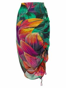 Pinko floral print skirt - Green