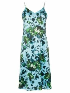 Erdem Vivianne floral print silk slip dress - Blue