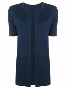 Sottomettimi short-sleeved cardigan - Blue