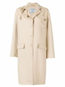 Prada single breasted coat - NEUTRALS