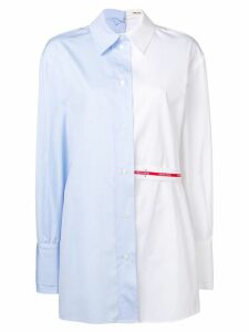 Circus Hotel two-tone shirt - Blue