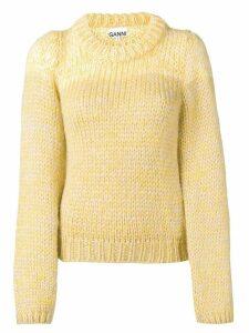 Ganni chunky knit jumper - Yellow