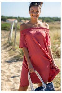 Womens Animal Pink Senoriti Woven Dress -  Pink