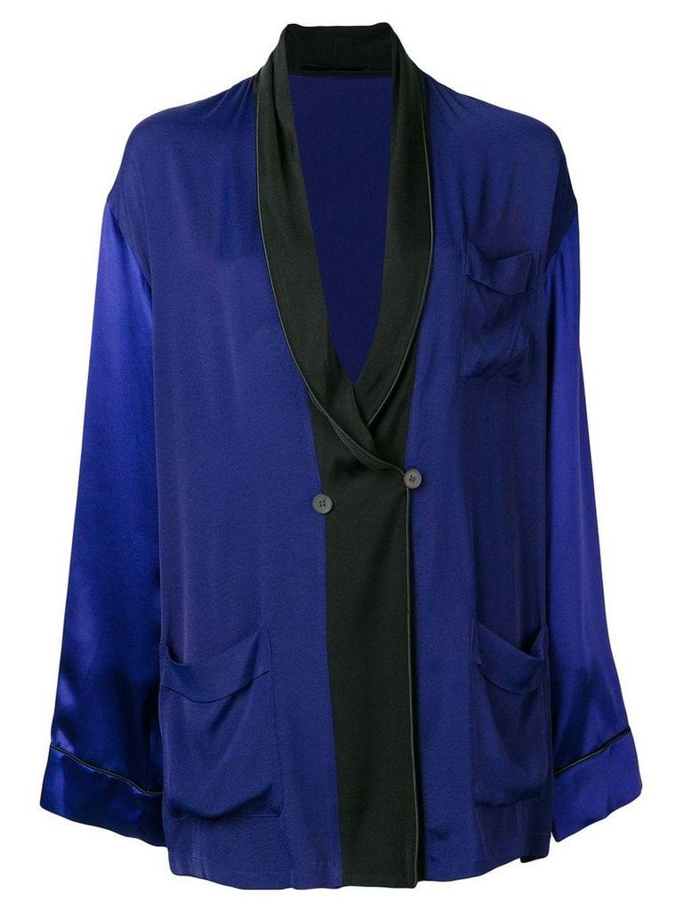 Haider Ackermann oversized shawl lapel blazer - Blue