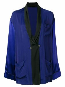 Haider Ackermann oversized shawl lapel blazer - Blue