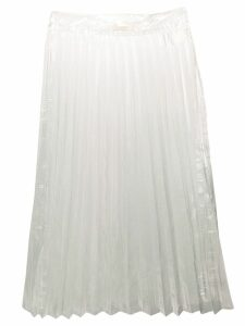 Ssheena transparent pleated skirt - White