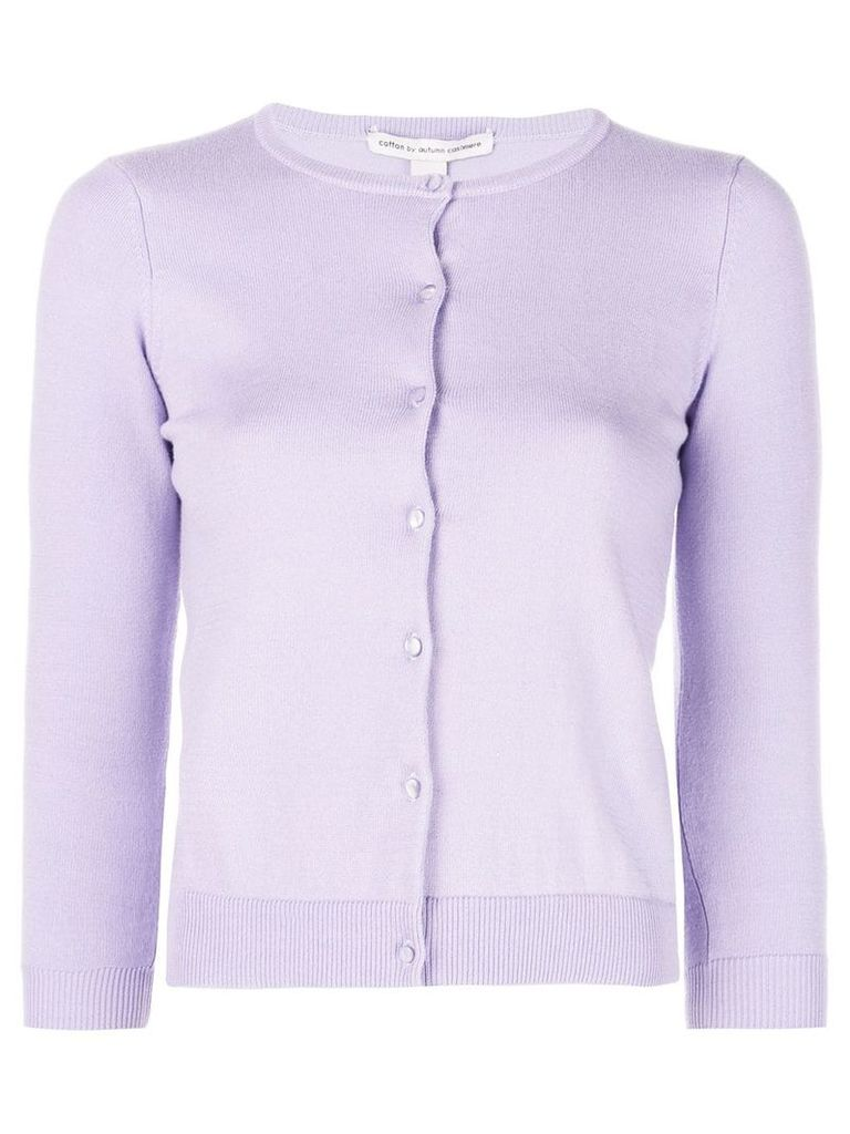 Autumn Cashmere button fitted cardigan - Purple