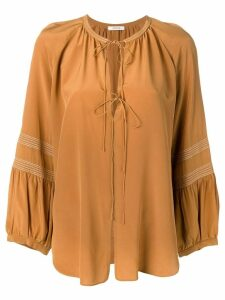 Dorothee Schumacher long-sleeve flared blouse - Brown