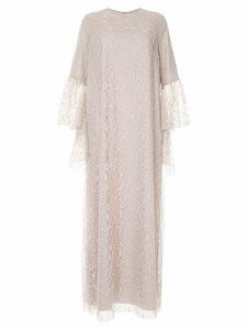 Rami Al Ali fluted sleeve dress - Neutrals