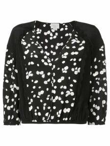 Jason Wu floral cropped blouse - Black