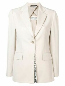 Maison Margiela structured fit blazer - Neutrals