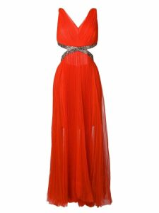 Maria Lucia Hohan Juliet pleated maxi dress - Red