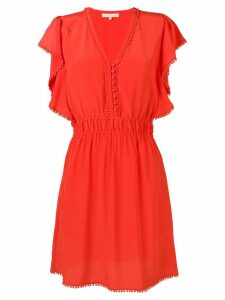 Vanessa Bruno embellished v-neck midi dress - Orange