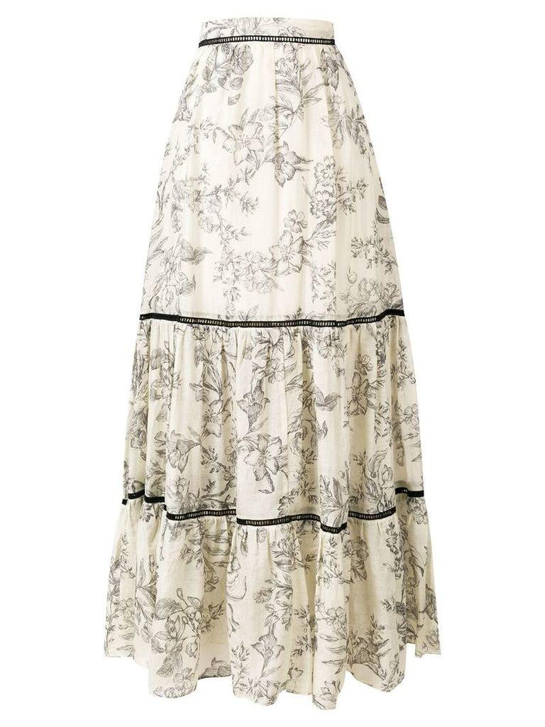 Twin-Set sleeveless tiered dress - Neutrals