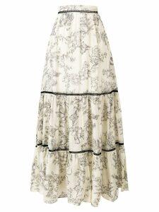 Twin-Set floral print maxi skirt - Neutrals