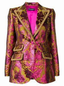 Dolce & Gabbana jacquard blazer - Yellow