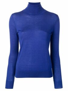 N.Peal Superfine roll neck sweater - Blue