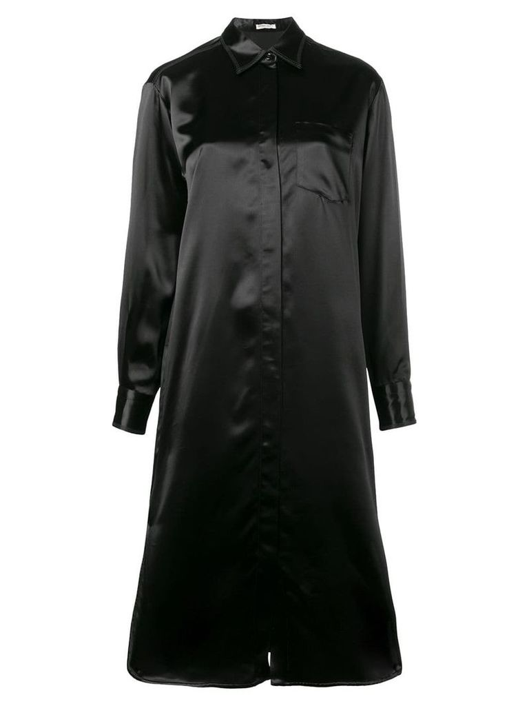 Bottega Veneta loose-fit shirt dress - Black
