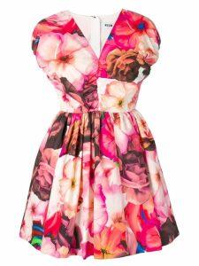 MSGM printed A-line dress - Pink