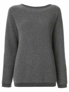 Theory oversized ribbed jumper - Grey