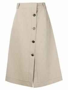 Bottega Veneta A-line midi skirt - NEUTRALS