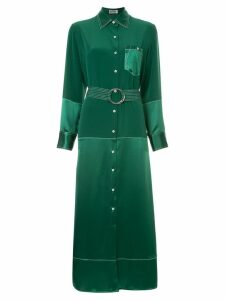Bedouin paneled shirt dress - Green