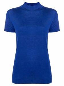 N.Peal mock neck knit top - Blue