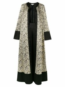 Layeur flared jacquard maxi dress - Gold