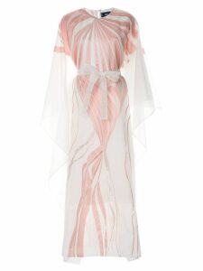 Taller Marmo Art Nouveau kaftan dress - White