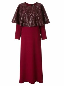 Dima Ayad sequin panel maxi dress - Red