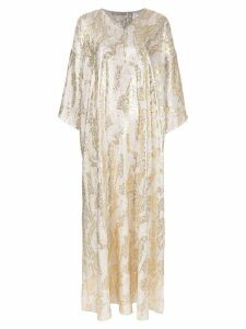 Layeur long jacquard dress - Silver