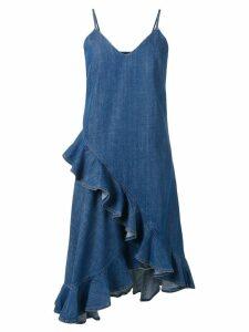 Kenzo frilled denim dress - Blue