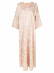 Layeur brocade unlined evening dress - PINK