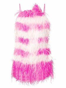 MSGM feather fringe mini dress - Pink