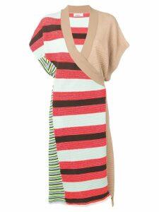 Circus Hotel lurex wrap dress - Pink