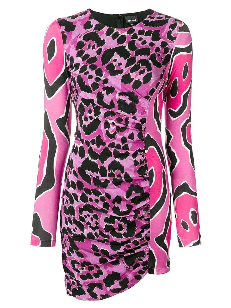 Just Cavalli fitted animal print dress - Pink