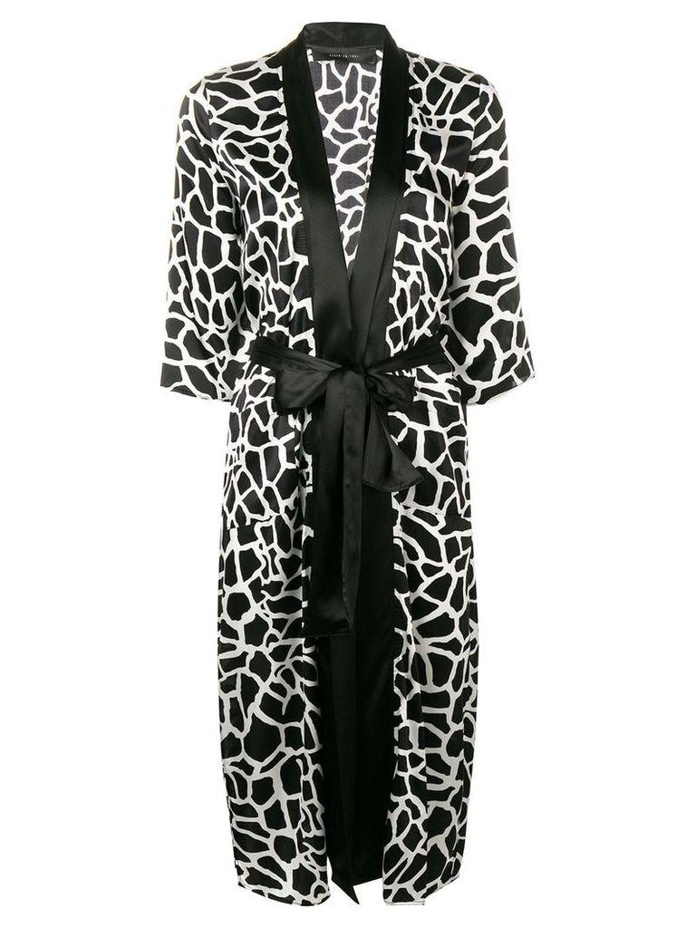 Federica Tosi patterned dress - Black