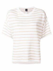 Lorena Antoniazzi striped knitted top - White